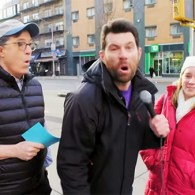 Billy Eichner and Stephen Colbert Grill New Yorkers About the Bubbles They're Living In: WATCH