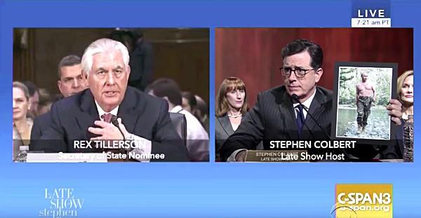 Rex Tillerson Stephen Colbert