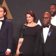 Barry Jenkins and the Stunned 'Moonlight' Producers Spoke to Press Moments After Their Oscar Win: WATCH