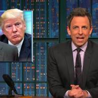 Seth Meyers Wrings Some Laughs out of the Dark 'Gray Cloud' Trump Has Brought to America: WATCH
