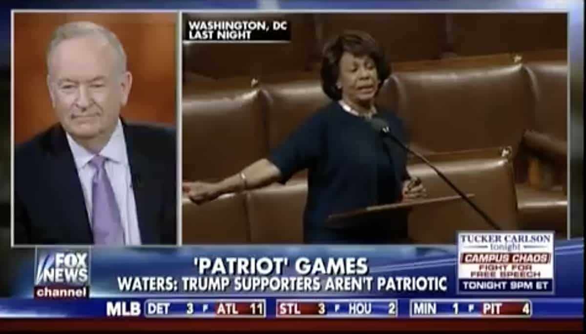 Bill O'reilly maxine waters james brown wig