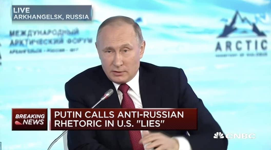 Vladimir Putin lies