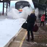 Amtrak snow