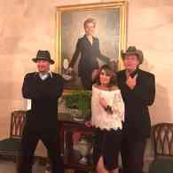 Sarah Palin, Ted Nugent, and Kid Rock Visited Trump in the White House and Mocked Hillary Clinton's Portrait