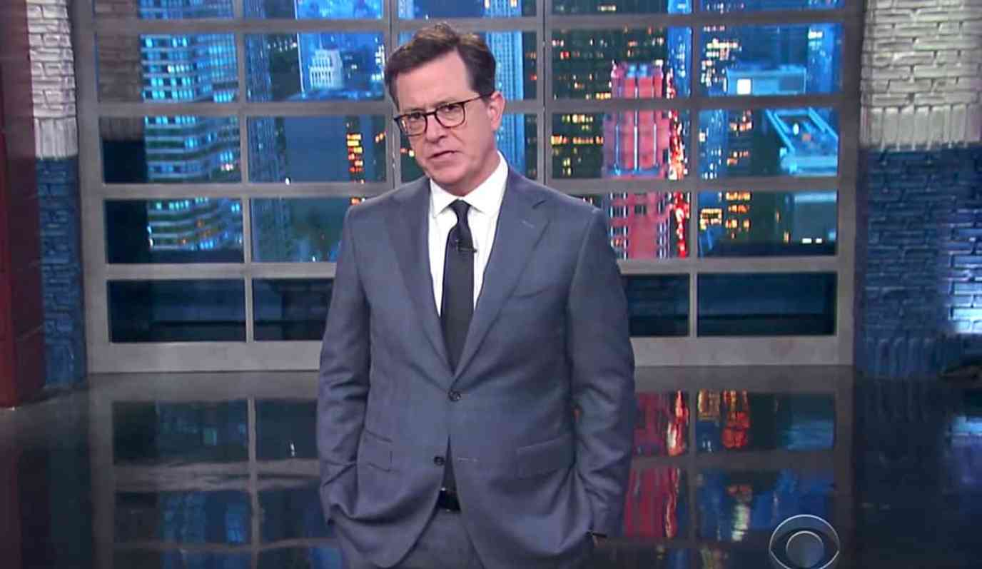 Colbert Trump resign