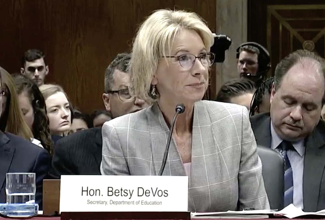 Betsy Devos Investigating Whether Schools Transgender Bathroom