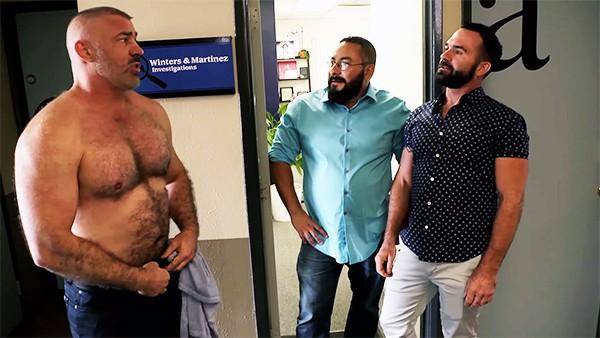 Very hairy bear gay men