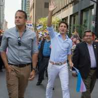 Justin Trudeau joined at Montreal Pride by Ireland's First Openly Gay PM Leo Varadkar and His Partner