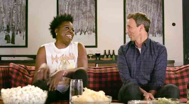 Leslie Jones Seth Meyers