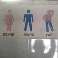 Italian Hotel's 'Gay' Bathroom Sign Ignites Uproar