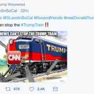 Days After Deadly Car-Ramming in Charlottesville, Trump Tweets and Deletes Image of Train Ramming CNN