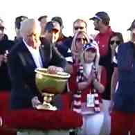 Donald Trump Dedicates Golf Trophy to People of Puerto Rico as They Continue to Beg for Help: WATCH