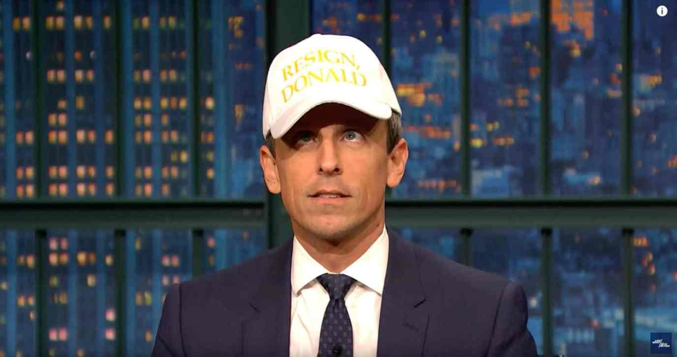seth meyers hat