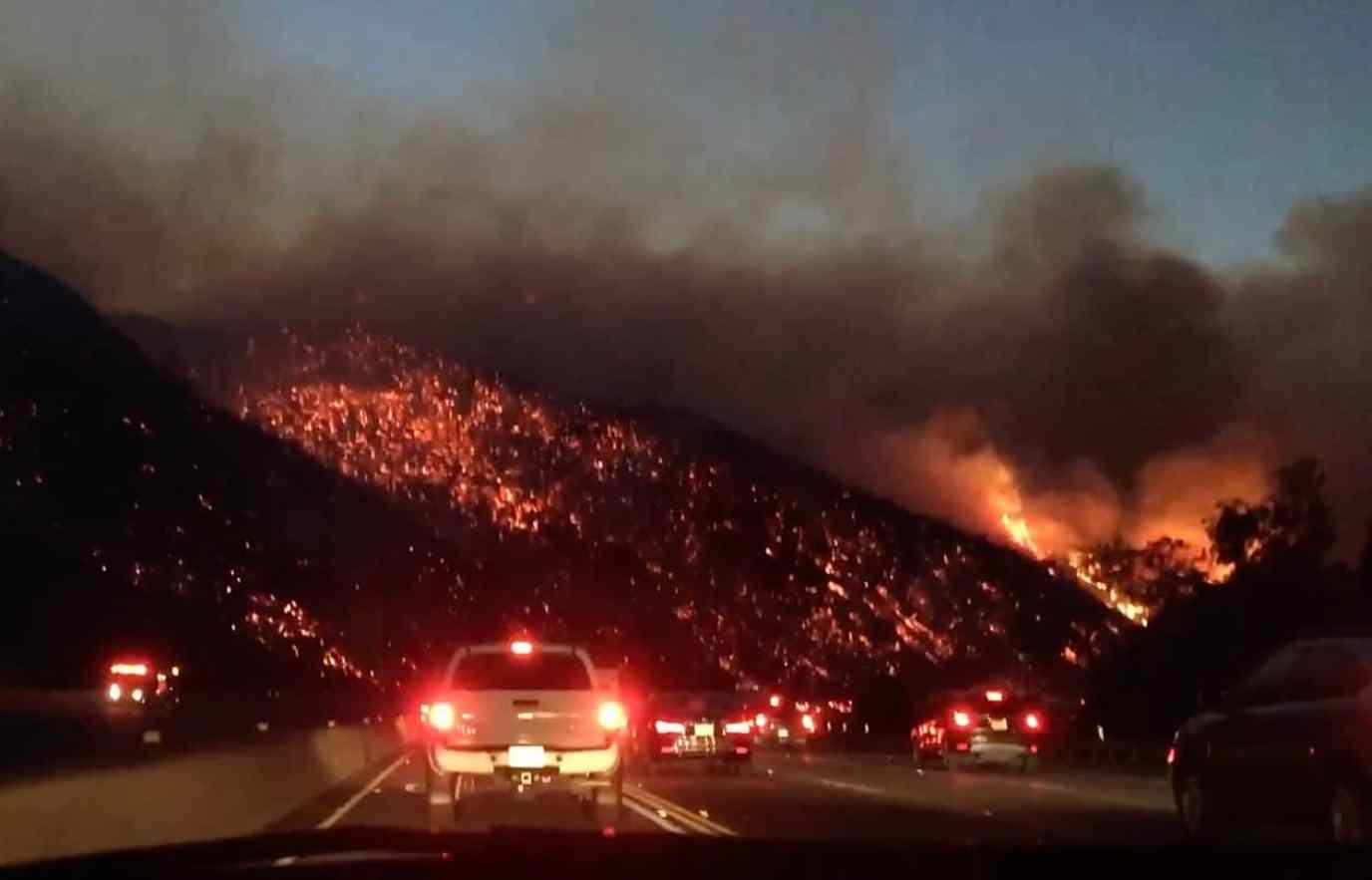 405 freeway fire