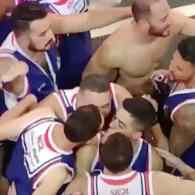 four way brazilian gay kiss