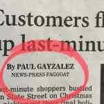 gay slur newspaper