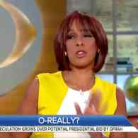 Potential WH Press Secretary Gayle King Isn't Hushing the Oprah 2020 Talk: WATCH