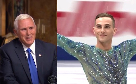 Mike Pence Adam Rippon Olympics