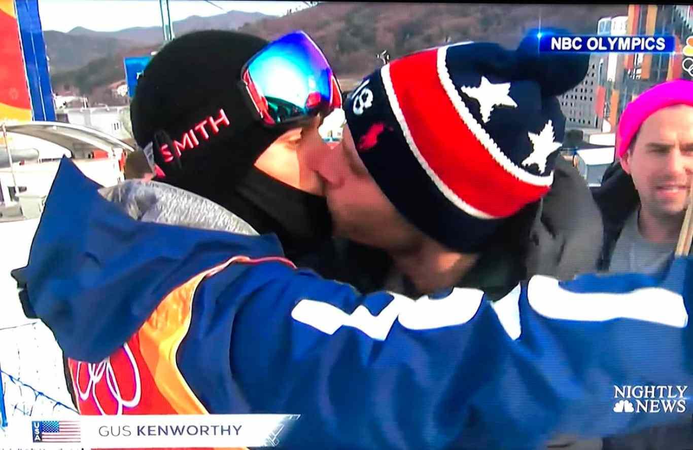 Gus Kenworthy kiss