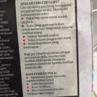 Malaysian Paper Publishes  'How to Spot a Gay Person' Checklist