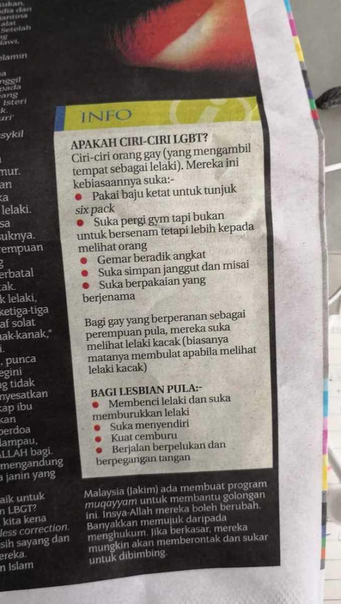 Malaysia gay list