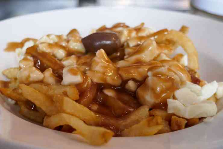 Poutine food in Montreal