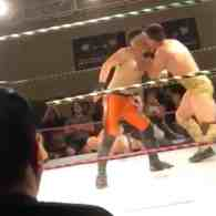 Pro Wrestler Jake Atlas Throws Off Opponent with Juicy Kiss: WATCH