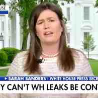 Sarah Huckabee Sanders Rips 'Disgusting' White House Leakers as Trump Threatens to ID and 'Make an Example' of at Least One