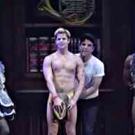 Zachary Quinto Left Charlie Carver Completely Bare After Tearing Off His Gold Thong on Stage: WATCH