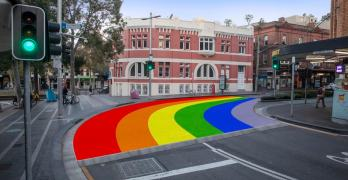 sydney rainbow crosswalk