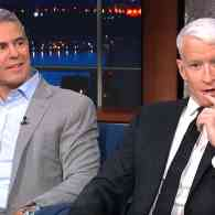 Andy Cohen and Anderson Cooper Squabble for Colbert: WATCH