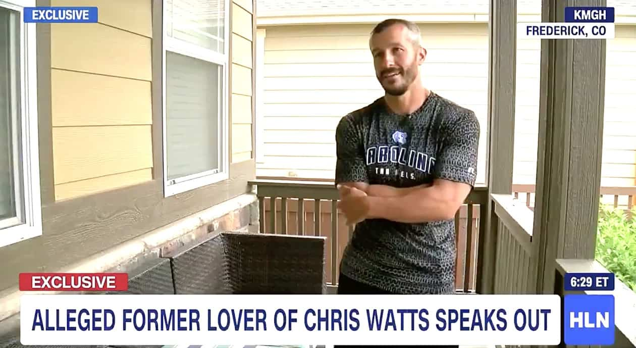 Who is chris watts male lover