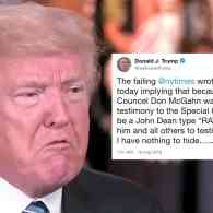 Sunday Morning Meltdown: Trump Explodes at NYT Story About WH Counsel Don McGahn Cooperating with Russia Investigation