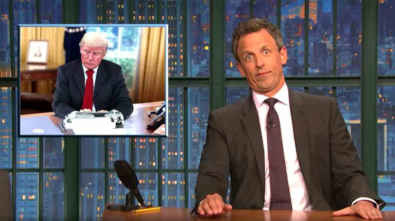 Trump book seth meyers