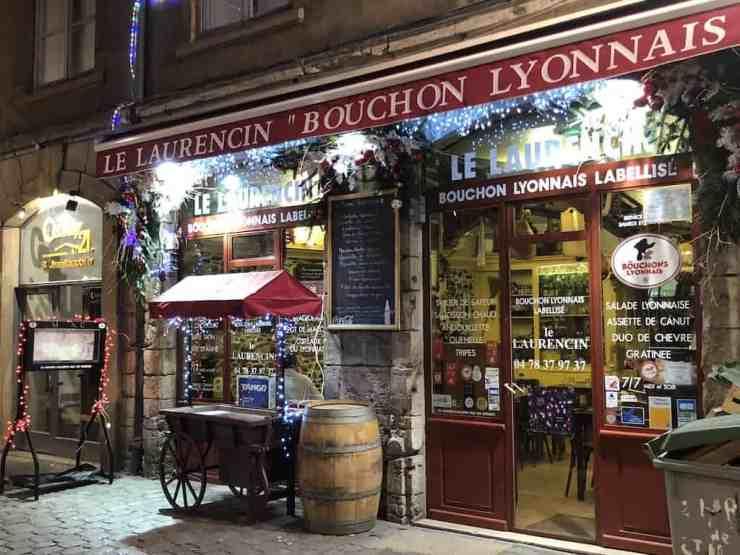 Bouchon restaurant in Lyon