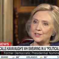 Hillary Clinton Slams Kavanaugh Swearing In: 'What Was Done Last Night…Was a Political Rally' — WATCH
