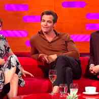 The Chris Pine Full Frontal Debut Has Sally Field, Rami Malek, and Graham Norton Very Curious: WATCH
