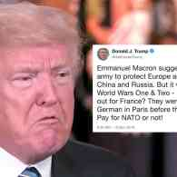 Trump Warns Macron He Should Pay More for NATO Because NATO Ally Germany Might Invade Again
