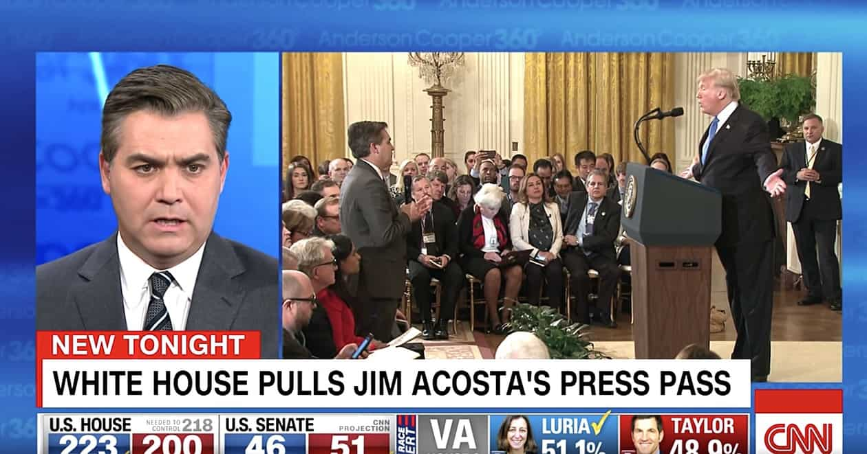White House to restore Acosta's pass _ with a warning