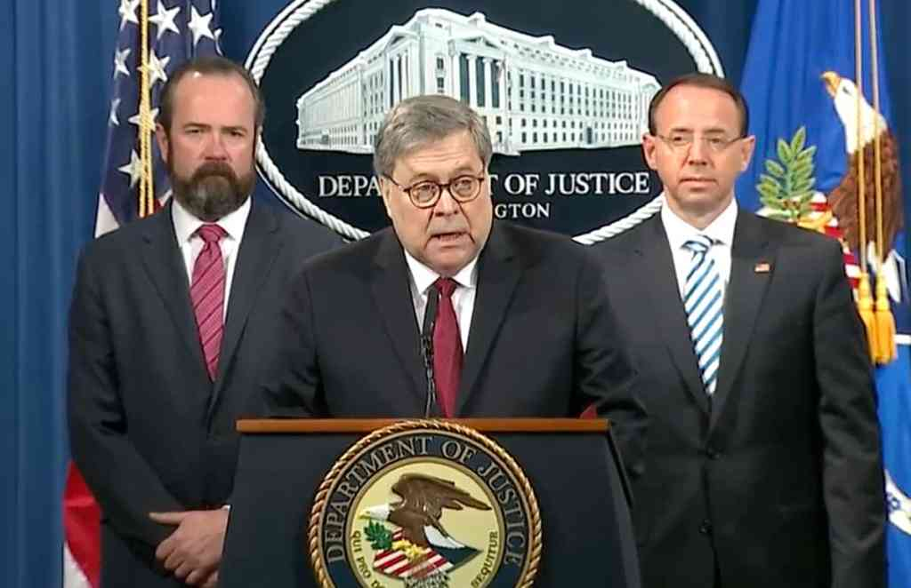 Image result for photos of barr at 4/18 press conference