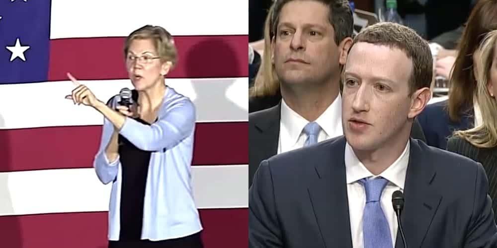 Elizabeth Warren Mark Zuckerberg
