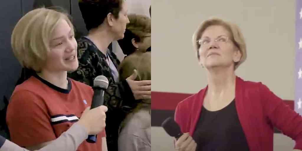 elizabeth warren young voter