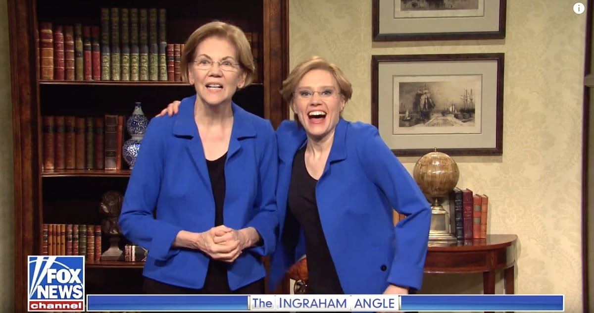 Elizabeth Warren makes surprise appearance on Saturday Night Live