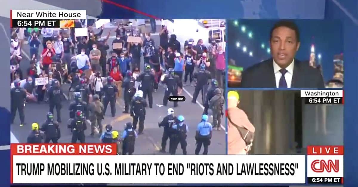 CNN's Don Lemon: Trump 'Declaring War on Americans' - 'Teetering on Dictatorship'