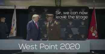 trump west point ramp