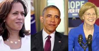 kamala harris barack obama elizabeth warren