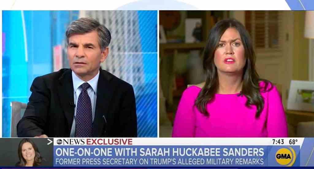 Sarah Huckabee Sanders condolence