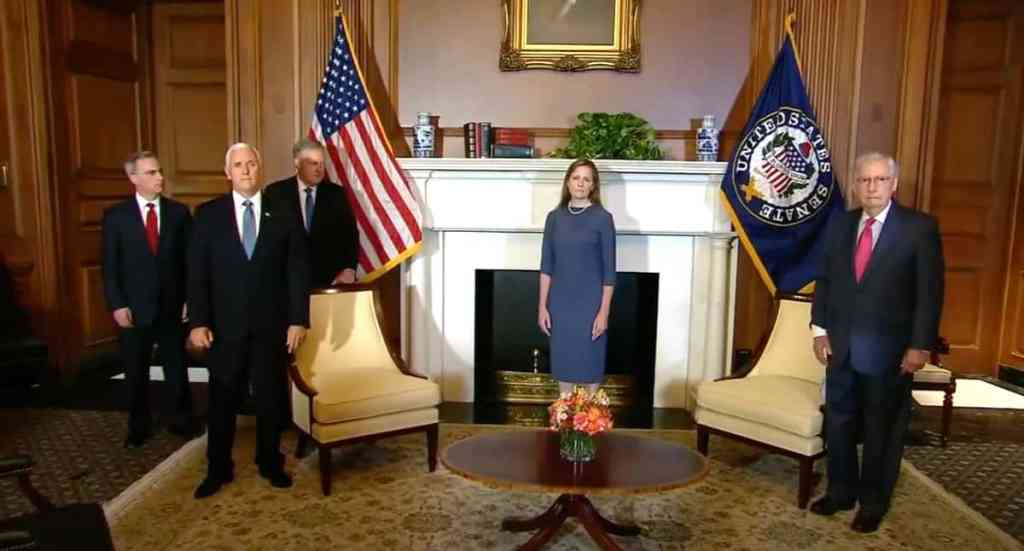 Pence Mcconnell Amy Coney Barrett recuse