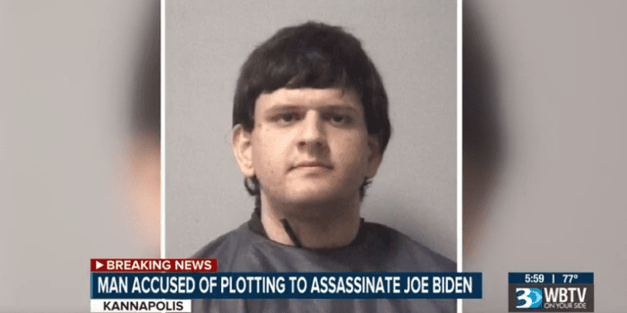 Suspect found with items suggesting possible plot to kill Biden