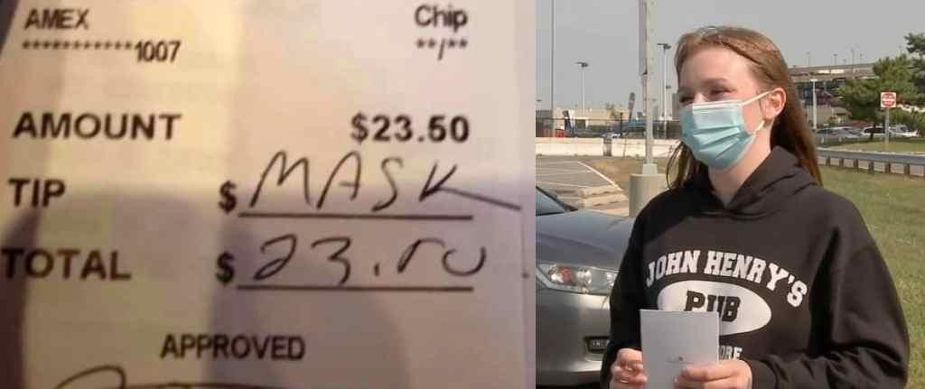mask waitress tip